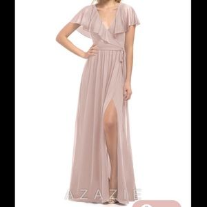 Azazie medium A4 bridesmaid dress Dusty Rose